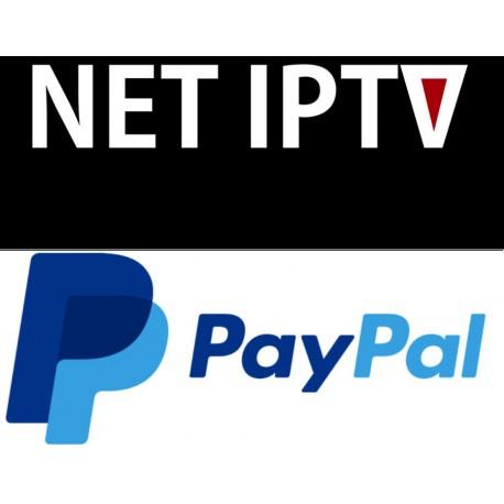 ACTIVATION NETIPTV PAIEMENT PAYPAL