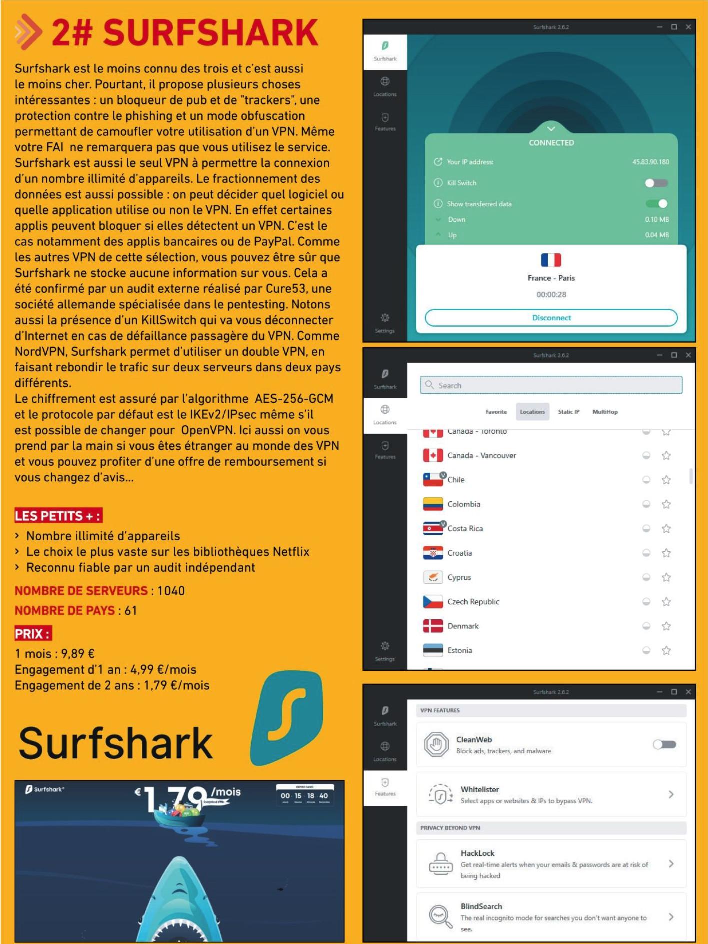 SURSHARK LE NUMERO 1 DE TOUS LES VPN