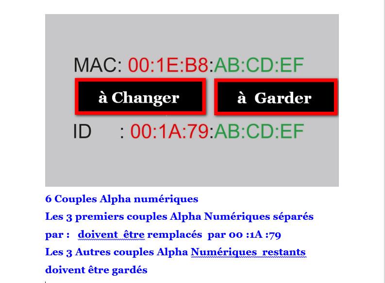 COMMENT DECHIFFRER LA MAC ADDRESS DE VOTRE BOX ANDROID